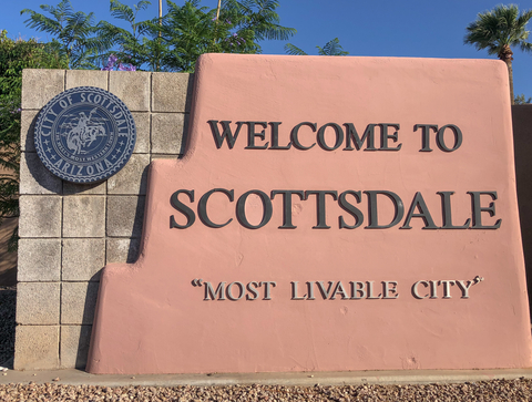 Scottsdale AZ City Map Dumpster Rentals